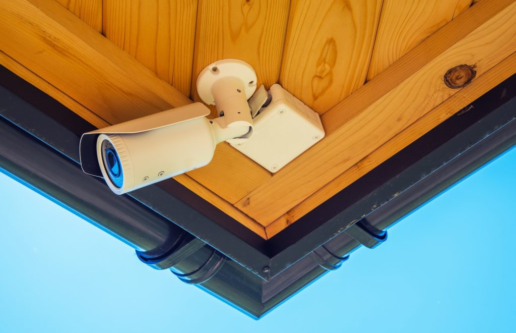 a CCTV on the roof